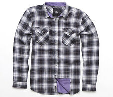 Alpinestars HARDY Mens Long Sleeve Button-up Shirt Medium Black NEW