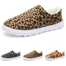Winter Mens Home Indoor Slippers Warm Shoes Leopard Fur Lined Non-slip Casual D