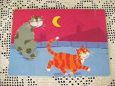 Vintage Cat Postcard My Grrrreat Uncle Tiger Alex Ayliffe Printed France 1995