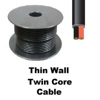 30m roll Flat Thin Wall Cable Twin Core Auto Car Marine Wire 28 strand 12v & 24v