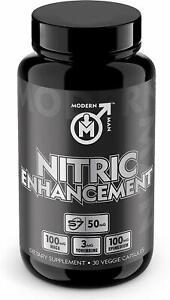 Nitric Oxide Enhancement by Modern Man Pump Enhancing Alpha Male Booster for Men