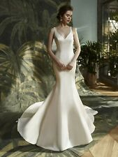 Modern Satin Wedding Dress - Karla from Blue by Enzoani Size 14 RRP £1500