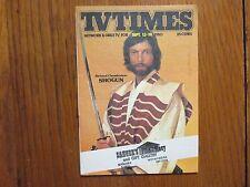 September 13, 1980 TV Times TELE-VUE  (RICHARD  CHAMBERLAIN/SHOGUN/DR.  KILDARE)