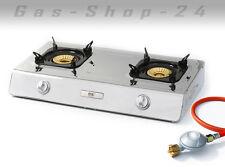 2 flammiger Propan Gaskocher 9 kW WOK Gas Kocher Wokbrenner Gaswok Hockerkocher