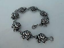 316L Stainless steel Womens Skull/Gothic/Biker 8 inch Rose bracelet UNISEX