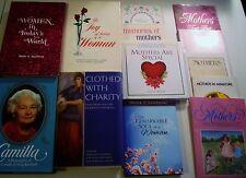 LDS Mormon Authors Lot 13 H/C Books & S/C Booklets Woman Mothers Charity Joy