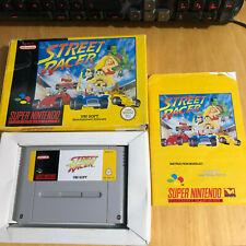 SNES Super Nintendo Boxed Game: Street Racer