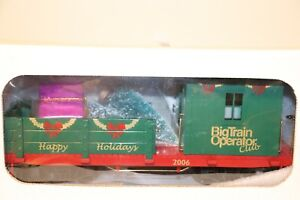 BTO (Big Train Operators) G Scale Rare 2006 Member only Christmas Caboose.