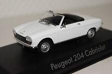 Peugeot 204 CABRIOLET 1967 blanc 1:43 NOREV NOUVEAU & OVP 472442