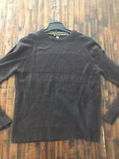Smartwool Sweater Mens Size Large Brown Merino Wool Blend