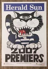 2007 Geelong Cats Premiership Poster WEG 100% Original