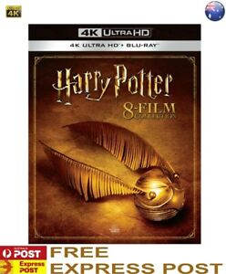 HARRY POTTER COMPLETE 8 FILM COLLECTION 8 4K Ultra HD + 8 Blu Ray Box Set =NEW=
