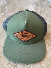 The Hundreds Hat Trucker Cap Adjustable Skateboard Green Drawing Lines