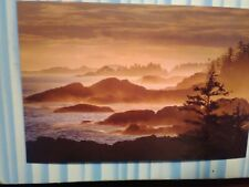 NEW BEAUTIFUL POST CARD AERIAL VIEW COASTAL SUNSET  THE PACIFIC NORTHWEST