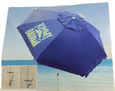 NEW TOMMY BAHAMA 8 FT BEACH UMBRELLA TELESCOPING POLE WIND VENT SAND ANCHOR BAG