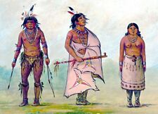 METAL FRIDGE MAGNET Mojave aka Mohave Chief Wife Warrior Indian Native American