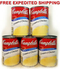 Campbell's CREAM Of CHICKEN Cooking Natural Flavored Kitchen Instant Food 5 Cans