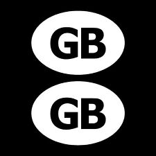 2x GB CAR STICKERS Oval Euro Car Van Lorry Vinyl Self Adhesive GB Decal France