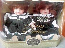 Collectible Memories Genuine Porcelain Twin Dolls Nib
