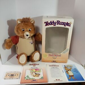 1985 Teddy Ruxpin Worlds Of Wonder Bear New In Box Mouth Does Not Move Book Tape