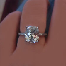 GIA Certified Cushion Cut Diamond 2.20 Carat Diamond Engagement Ring Platinum