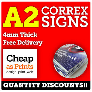 A2 Correx Sign Printing | 4mm Rigid Plastic | Builders Site Signs, To Let Boards