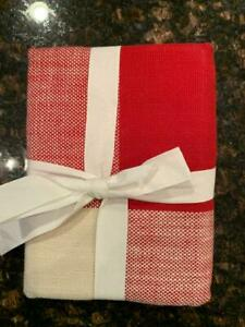 NEW Pottery Barn Bryce Check EURO Pillow Sham Red / Ivory