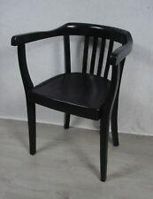 1920er Bauhaus Stil Stuhl Gropius Stil, schwarz, Thonet ? solides Holz