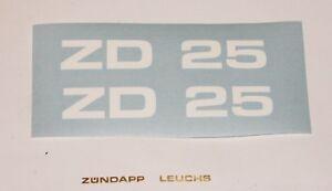 Zündapp GTS KS C R 442 Combinette Réservoir Autocollant Noir Argent marqué NEUF