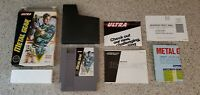 Metal Gear Nintendo NES Game Complete CIB w/ Box Map / Poster Instruction Manual