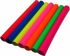 "New Coral Fluorescent Siser Heat Press Transfer Vinyl  7rolls 15""x one yard each"