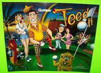 Gottlieb Tee'd Off Original 1993 NOS Pinball Machine Translite Golf Art Golfing