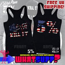 RICH PIANA 5% Love It Kill It American Flag Print WOMEN'S RACER BACK VEST Size M