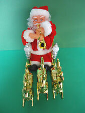 """Navidad Novedad Santa y reno musical animado Decoración - """"juega saxos están's"""