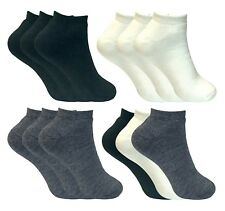 3 Pack Ladies Winter Warm Soft Thick Low Cut Ankle Trainer Thermal Short Socks