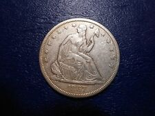 1867s seated liberty half dollar xf