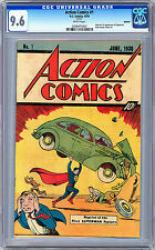 ACTION COMICS #1 CGC 9.6 *FIRST SUPERMAN* RARE 10-CENT SLEEPING BAG REPRINT 1976