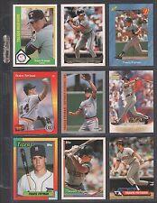 TRAVIS FRYMAN ~ Lot of (9) Different Baseball Cards w/ Display Sheet (L683)