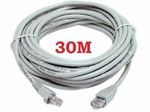 30M METERS ETHERNET CABLE CAT CAT5 5 CABLE RJ45 PATCH NETWORK LEAD 30 METER NEW