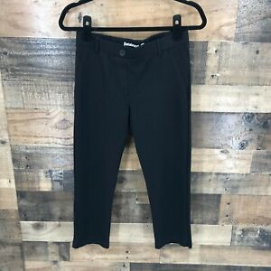 Betabrand Women's Black Stretch Pull On Cropped Length Yoga Dress Pants Small