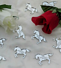 Personalised Unicorn Wedding Favours x50 Table Decorations Scatters Mr & Mrs