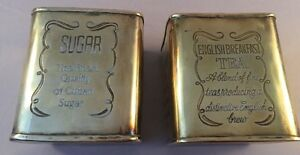 Collectable Sugar & English Tea Tin Container Finest Quality Cuban Caddy