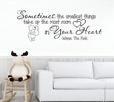 Winnie the Pooh Nursery Kids Children Wall Vinyl Decal Quote Sticker Art Z338