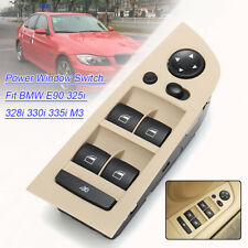 Beige Front Driver Left Power Window Switch For BMW E90 325i 328i 330i 335i