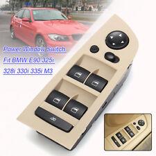 Beige Front Driver Left Power Window Switch For BMW E90 325i 328i 330i 335i