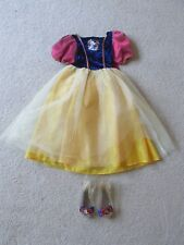 Girl's Deluxe Snow White Disney Store Halloween Costume Dress & Shoes Small 4/6