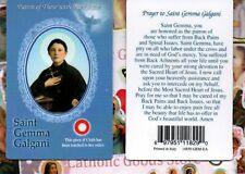 St. Saint Gemma Galgani With Prayer - Relic Paperstock Holy Card