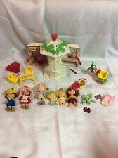 1981 Strawberry Shortcake Gazebo lot w/ dolls and tricycle LOT