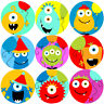 144 Happy Birthday Monsters Reward Stickers 30mm - Teachers, Parents, Party Bags