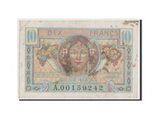 [#42885] France, 10 Francs, 1947 French Treasury, 1947, KM #M7a, VF(30-35)